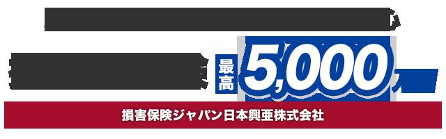 損害賠償保険 最高 5,000万円 損害保険ジャパン日本興亜株式会社